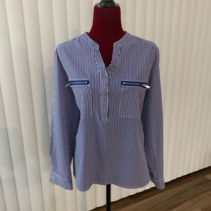 Notations XL Blouse blue/white stripes Size XL